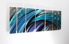 large metal wall art panels  contemporary abstract art by dv studio