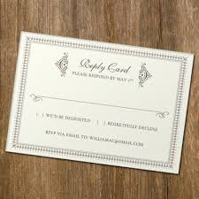 rsvp card template rsvp card template with retro typography download print
