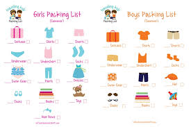 Packing List For Summer Vacation Family Summer Vacation Packing List