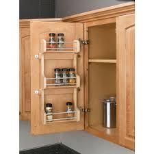 Rev-A-Shelf 21.5 in. H x 16.5 in. W x 3.12 in. D Large Cabinet Door Mount  Wood 3-Shelf Spice Rack-4SR-21 - The Home Depot