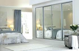 wonderful mirrored sliding closet doors bypass mirror interior mirr