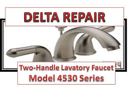 how to fix leaky bathroom handle delta faucet model 4530 series repair