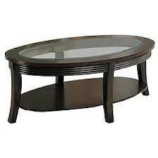 simone round coffee table w glass insert