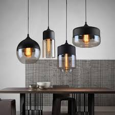 vintage glass pendant light globe lampshade modern kitchen fixtures industrial opening hanging lamp for living dining
