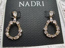 125 stunning nadri 18k plated cz crystal chandelier baguette drop earrings