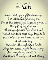 To My Son Quotes Classy A Prayer For My Son FAMILY Pinterest Sons Child And Lord