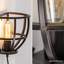 Zwart Metalen Wandlamp Industrieel Straluma