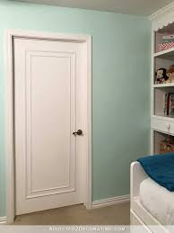 how to update flush interior doors with moulding