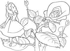 Small Picture Alice in Wonderland Christmas coloring page Christmas Easter