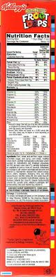 cie brehm 039 s nutrition facts of fruit loops perning to