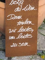 Edelrost Schild Mit Weinflasche Und Glas Wasser Und Wein Angels