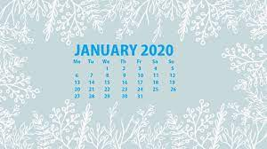 January 2020 Calendar Wallpapers - Top ...