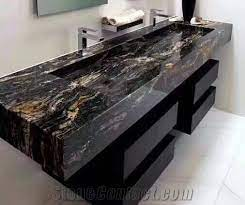 Black With Gold Granite Bathroom Vanity Top Bath Tops From China Stonecontact Com