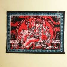 Christmas Ganesha Poster Red <b>Trippy</b> Wall hanging <b>Hippie</b> ...