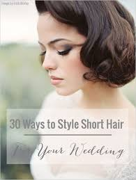Hairstyle Design For Short Hair 30 ways to style short hair for your wedding bridal musings 8307 by stevesalt.us