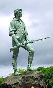 minutemen the lexington minuteman monument 1900 representing militia captain john parker