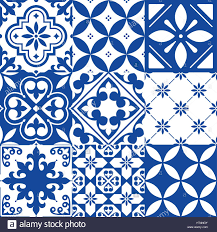 Moroccan Tile Pattern Inspiration Spanish Tiles Moroccan Tiles Design Seamless Navy Blue Pattern