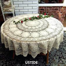 inch crocheted lace tablecloth round gorgeous wedding party table clothes modern tablecloths australia