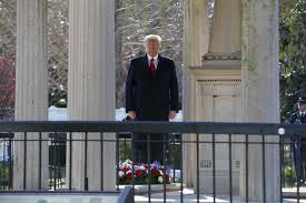 jacksonian democracy faith and history president trump pauses after laying a wreath at the hermitage the home of president andrew jackson evan vucci associated press