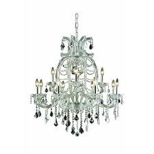 elegant lighting maria theresa royal cut crystal chrome 12 light 35 4 in chandelier