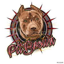 Fotografie Obraz Pit Brown Dog Art Posterscz