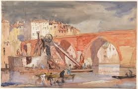 an image of old bridge pont vieux albi france by sir frank