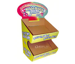 Display Stand Hs Code Simple Customized Counter Display Desk Paper Display Candy Cardboard