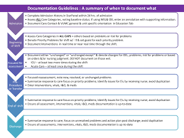 Nursing Charting Guidelines Documentation Guidelines Job Aide