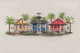 caribbean village metal wall sculpture on metal wall art decor tropical with metal wall art tropical gifts nautical wall art tropical wall art