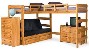 Wood Bunk Beds With Desk And Drawers   Best Home Furniture Design