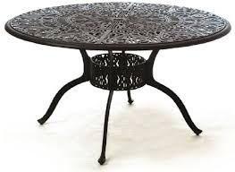 grand tuscany by hanamint luxury cast aluminum 54 patio dining table lazy susan