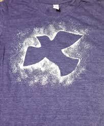 Dove Design T Shirts Sparkle Sauce Foils And A Stencil Make This Dove Design On