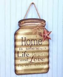 welcome wall decor hanging metal mason jar sentiments star greeting porch sign welcome wall decor 1 welcome wall decor