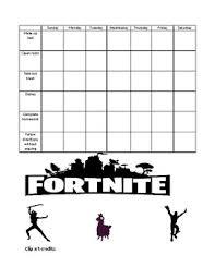 Fortnite Behavior Chart Worksheets Teaching Resources Tpt