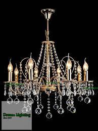 8 arm 24k gold best er candle crystal chandelier pendant lights gold