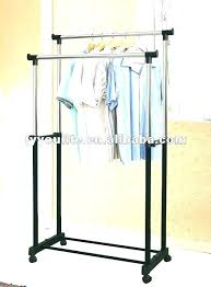 clothes hanger rack hanging pole cloth double telescopic outdoor dryer