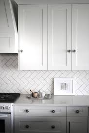 Painting Kitchen Tile Backsplash Cool Love The Vertical Chevron Patter With Subway Tile For Backsplash