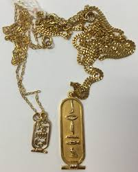 lot 1306 an 18ct gold egyptian pendant on a 9ct gold chain