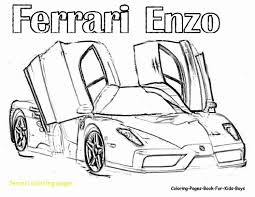 Ferrari Coloring Pages With Enzo Arresting Page To Bertmilneme