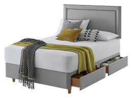 silentnight toulouse small double 4drw divan set slate grey at argos from silentnight