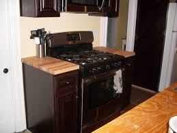 Diy Wooden Kitchen Countertops Saving Very Small Kitchen Spaces With Minimalist Stained Oak