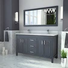 bathroom double sink cabinets. Corniche 60\u201d Pepper Gray Double Sink Vanity By Studio Bathe Bathroom Cabinets A
