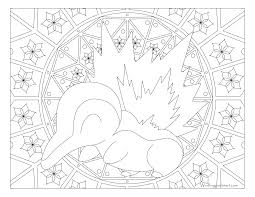 Small Picture 155 Cyndaquil Pokemon Coloring Page Windingpathsartcom