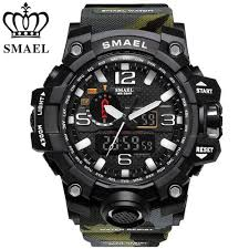 SOXY <b>SMAEL Men's</b> Watches Top Brand Luxury Waterproof Sport ...
