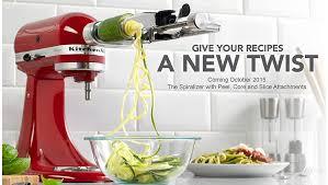 kitchenaid new attachments. spiralizer stand mixer attachment kitchenaid new attachments p