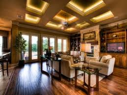 coffer lighting. coffered ceiling with led strip lighting behind molding cove coffer