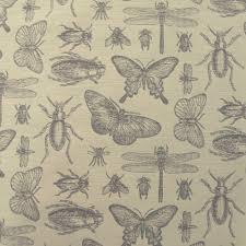 Curtain Fabric Marson Imports Bichos Silver Insect Curtain Fabric Closs Hamblin