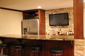 basement remodel kansas city. Kansas City Basement Remodel - Bar With Half Kitchen, Wine Fridge And Entertainment S
