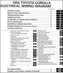 toyota corolla wiring diagrams toyota image wiring 1994 toyota corolla wiring diagram manual original on toyota corolla wiring diagrams