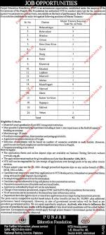 punjab education foundation pef wanted applicants punjab related jobs